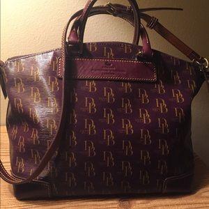 Dooney bourke satchel purple